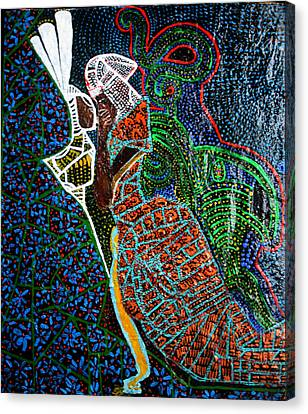 Africa Ceramics Canvas Print - The Annunciation by Gloria Ssali