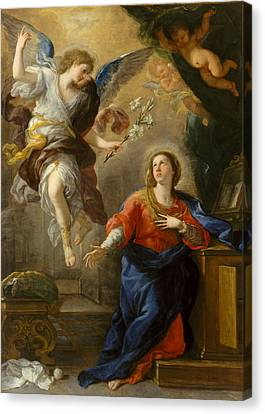 The Annunciation Canvas Print by Luca Giordano
