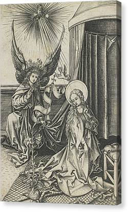 The Annunciation Canvas Print by Martin Schongauer