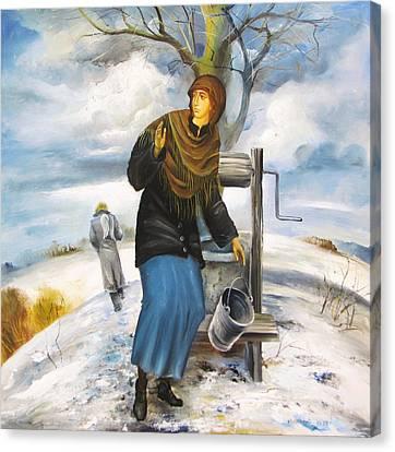 The Annunciation Canvas Print by Mikhail Zarovny