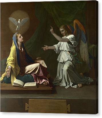 The Annunciation Canvas Print by Nicolas Poussin