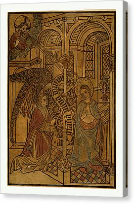 The Annunciation, Print Showing Mary Visited By An Angel Canvas Print by English School
