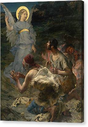 The Annunciation To The Shepherds Canvas Print by Jules Bastien-Lepage