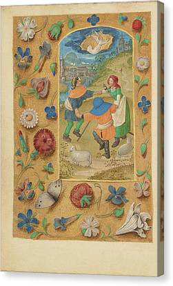 The Annunciation To The Shepherds Master Of The Dresden Canvas Print by Litz Collection