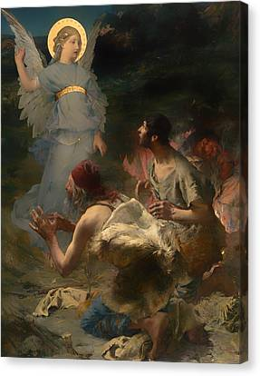 The Annunciation To The Spepherds Canvas Print by Mountain Dreams
