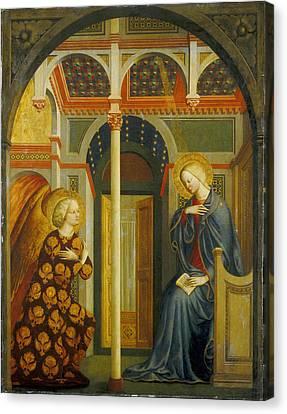 The Annunciation Canvas Print by Tommaso Masolino da Panicale