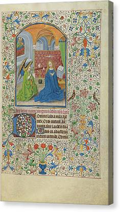 The Annunciation Willem Vrelant, Flemish, Died 1481 Canvas Print by Litz Collection