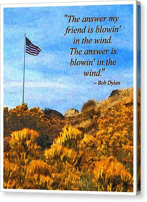 The Answer Is Blowing In The Wind Canvas Print by Glenn McCarthy Art and Photography