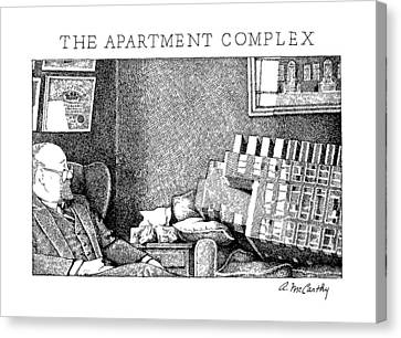 The Apartment Complex Canvas Print by Ann McCarthy