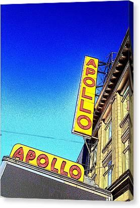 Apollo Theater Canvas Print - The Apollo by Gilda Parente