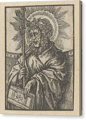 The Apostle Philip, Anonymous, Jacob Cornelisz Van Oostsanen Canvas Print by Anonymous And Jacob Cornelisz Van Oostsanen
