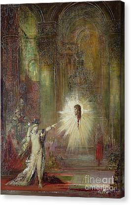 The Apparition Canvas Print by Gustave Moreau
