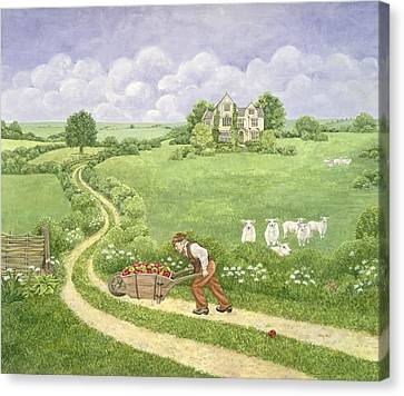 The Apple Barrow Canvas Print