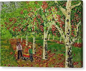 The Apple Pickers Canvas Print