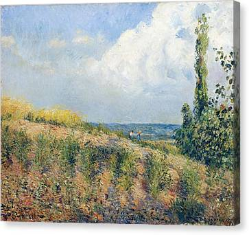 The Approaching Storm Canvas Print by Camille Pissarro