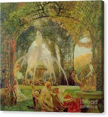 The Arbor Canvas Print by Gaston De la Touche