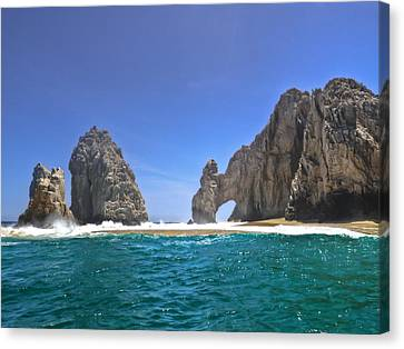 Canvas Print featuring the photograph The Arch  Cabo San Lucas On A Low Tide by Eti Reid
