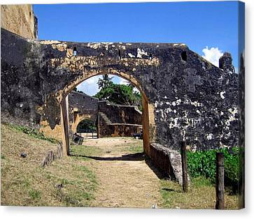 The Arch Fort Jesus Mombasa Canvas Print by Jay Milo