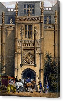 Medieval Entrance Canvas Print - The Arch, Montacute House, Somerset by Joseph Nash