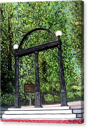 Athens Canvas Print - The Arch At Uga by Katie Phillips