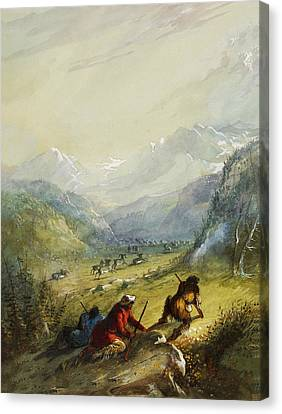 The Argali Mountain Sheep Canvas Print by Alfred Jacob Miller