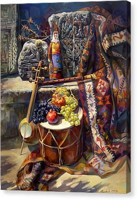 The Armenian Still-life With A Armenian Doll Canvas Print by Meruzhan Khachatryan