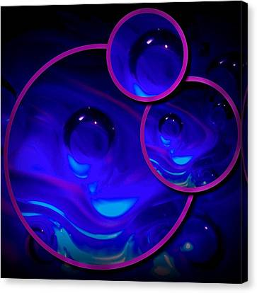 Art Glass Project-4 Cobalt Blue Lampwork Canvas Print