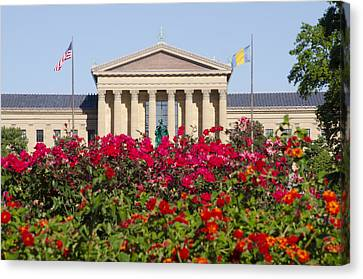 The Art Museum In Summer Canvas Print by Bill Cannon