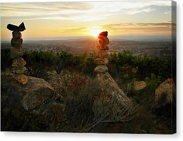 Hoodoos Canvas Print - The Art Of Cairns by Christine Till