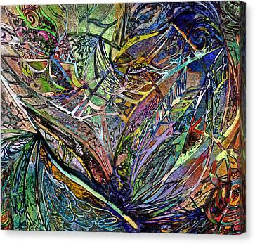 The Art Of Happiness - Abstract Canvas Print by Georgiana Romanovna