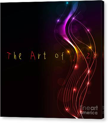 The Art Of Jazz Canvas Print by Liane Wright