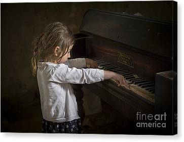 Piano Canvas Print - The Art Of Melody by Evelina Kremsdorf