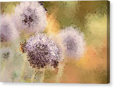 The Art Of Pollination Canvas Print by Peggy Collins