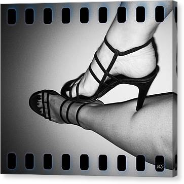 The Art Of Stilettos Canvas Print by Absinthe Art By Michelle LeAnn Scott