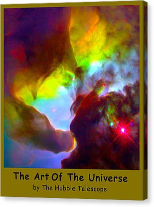 The Art Of The Universe 266 Canvas Print by The Hubble Telescope
