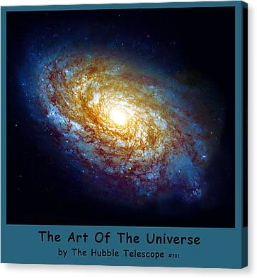 The Art Of The Universe 301 Canvas Print by The Hubble Telescope