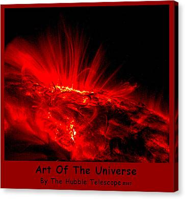 The Art Of The Universe 307 Canvas Print by The Hubble Telescope