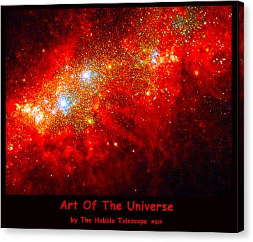 The Art Of The Universe 309 Canvas Print by The Hubble Telescope