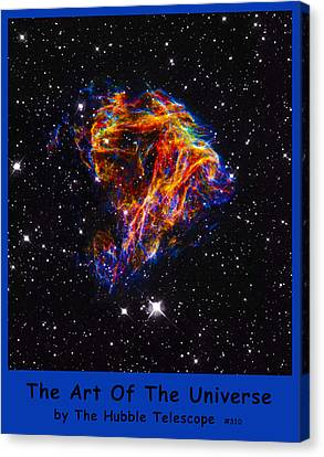 The Art Of The Universe 310 Canvas Print by The Hubble Telescope