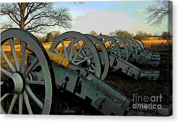 The Artillery Canvas Print by Cindy Manero