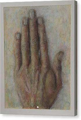 The Artist Hand Canvas Print