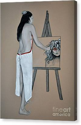 The Artist Canvas Print by Joe Dragt
