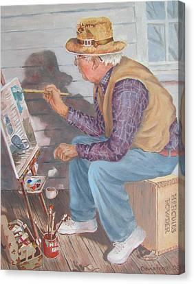 The Artist Canvas Print by Tony Caviston