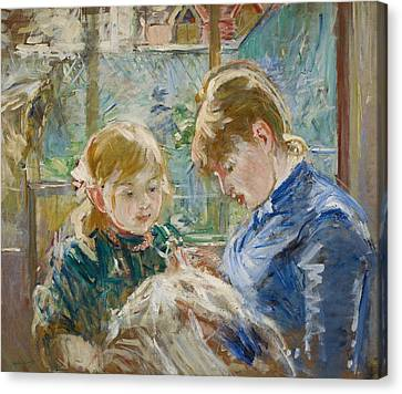 The Artists Daughter Canvas Print by Berthe Morisot