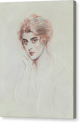 The Artists Daughter Canvas Print by Paul Cesar Helleu