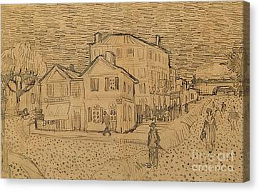The Artists House In Arles Canvas Print