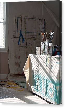 The Artists Studio Canvas Print by Paulette B Wright