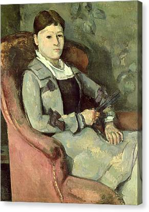 The Artists Wife In An Armchair, C.187888 Oil On Canvas Canvas Print by Paul Cezanne