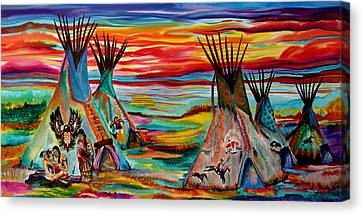 The Artists Work Canvas Print by Anderson R Moore