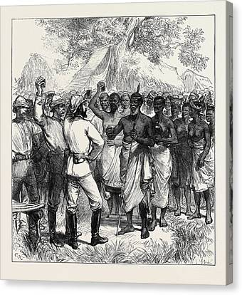 The Ashantee War Drinking The Queens Health In Our Camp 1874 Canvas Print
